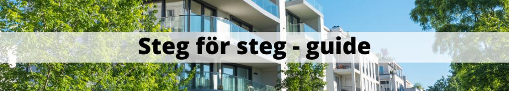 Sälja lägenhet/bostadsrätt